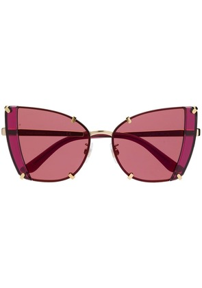 Dolce & Gabbana Eyewear cat-eye frame sunglasses - Gold