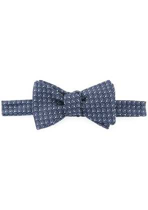 Gieves & Hawkes textured bow tie - Blue
