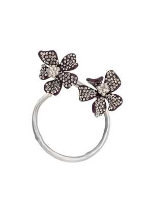 Acne Studios flower hoop earring - Purple