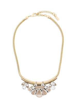 Radà rhinestone embellished necklace - Metallic