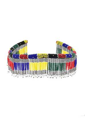 Isabel Marant fringed beaded choker - Multicolour