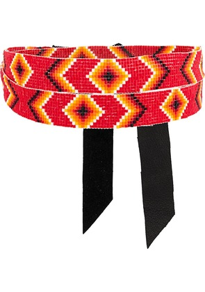 Jessie Western beaded choker necklace - Red