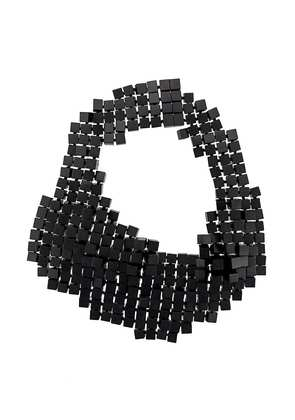Monies multi cube statement necklace - Black