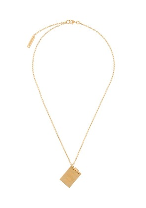 Ambush Note pad pendant - Gold