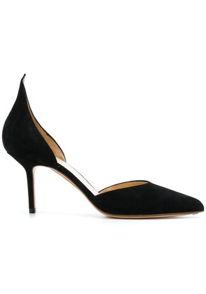 Francesco Russo pointed toe d'orsay pumps - Black