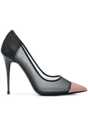 Tom Ford contrast pointed pumps - Black