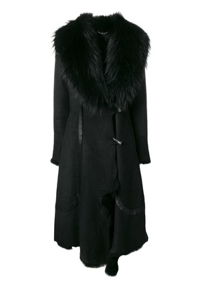 Desa 1972 long fur coat - Black