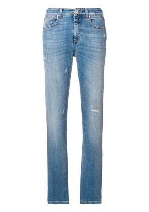 Closed slim-fit trousers - Blue