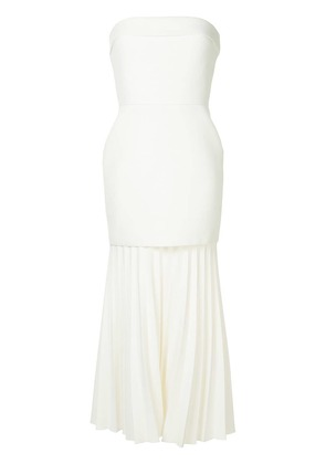 Dion Lee pleated strapless dress - White