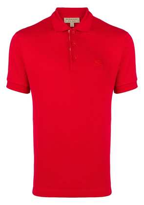 Burberry embroidered logo polo shirt - A1369 Military Red
