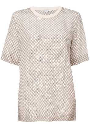 Stella McCartney tie print T-shirt - Neutrals