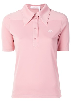 See By Chloé embroidered bisou polo shirt - Pink