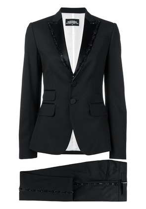 Dsquared2 bead embroidered suit - Black