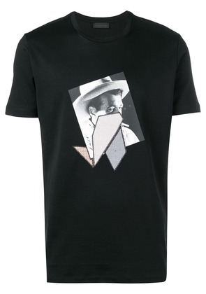 Diesel Black Gold T-Shirt with print and patchwork