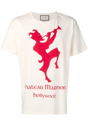 Gucci T-shirt with Chateau Marmont print - Neutrals