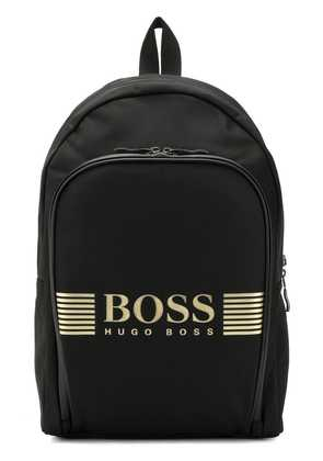Boss Hugo Boss logo printed backpack - Black