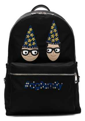 Dolce & Gabbana DG designers patch Vulcano backpack - Black