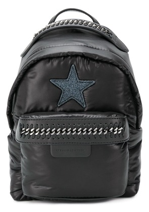 Stella McCartney star patch mini backpack - Black