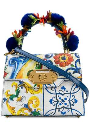 Dolce & Gabbana majolica-print Welcome bag - White