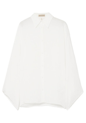 Emilio Pucci - Wide-sleeved Silk-georgette Blouse - White