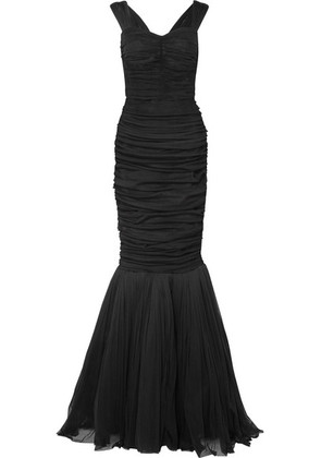 Dolce & Gabbana - Ruched Silk-tulle Gown - Black