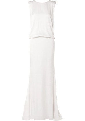 Rachel Zoe - Ava Lace-trimmed Satin-crepe Gown - Ivory