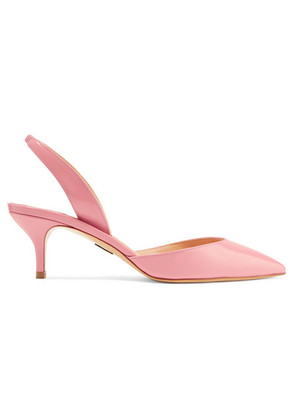 Paul Andrew - Rhea Patent-leather Slingback Pumps - Baby pink