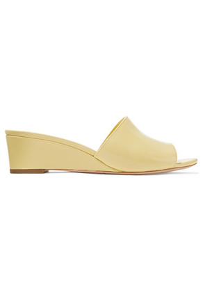 Loeffler Randall - Tilly Patent-leather Wedge Sandals - Pastel yellow