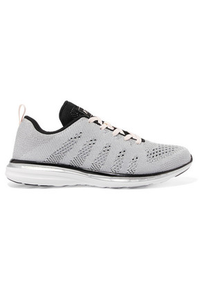 APL Athletic Propulsion Labs - Techloom Pro Mesh Sneakers - Silver