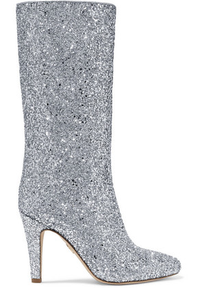 Brother Vellies - Elevator Glittered Leather Boots - Silver