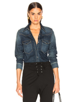 NILI LOTAN Travis Shirt in Denim Dark