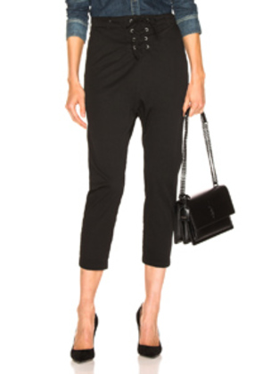 NILI LOTAN Lace Up Avery Pant in Black
