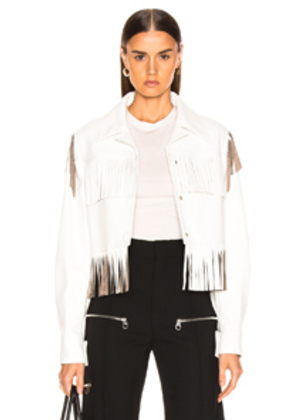 Stella McCartney Fringe Jacket in White