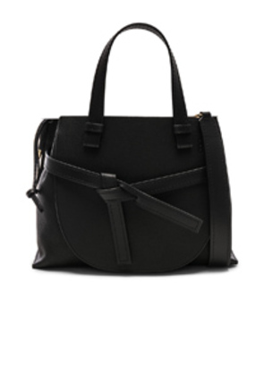 Loewe Gate Small Top Handle in Black
