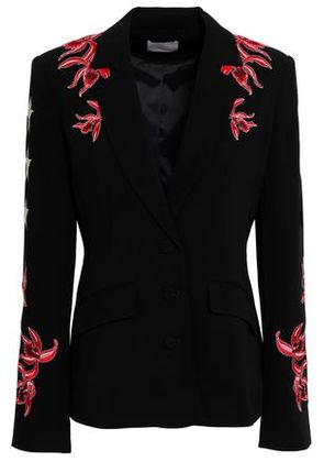 Cinq À Sept Woman Orchid Pax Embroidered Crepe Jacket Red Size 4