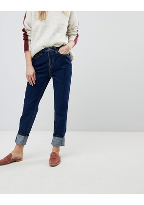 New Look Stonewashed Mom Jean - Mid blue