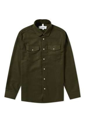 Soulland Tom Flannel Shirt Green