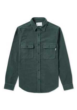 Adsum Italian Moleskin Workshirt Green