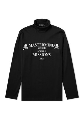 MASTERMIND WORLD Missions Logo Turtleneck Black