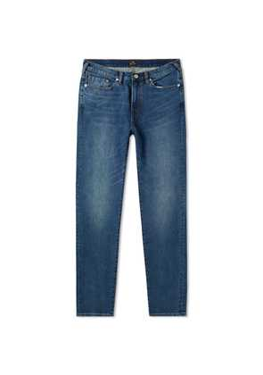 Paul Smith Tapered Fit Stretch Jean Crosshatch Indigo