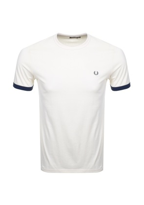 Fred Perry Ringer T Shirt Cream