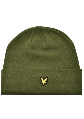 Lyle And Scott Ribbed Beanie Hat Green