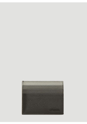 Prada Saffiano Leather Credit Card Holder in Black size One Size