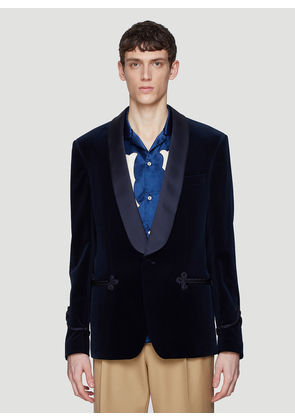 Gucci Velvet Blazer Jacket in Navy size IT - 46