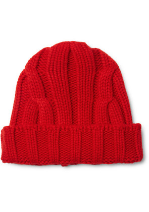 Connolly - Ribbed Merino Wool And Cashmere-blend Beanie - Red