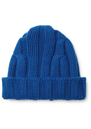 Connolly - Ribbed Merino Wool And Cashmere-blend Beanie - Blue