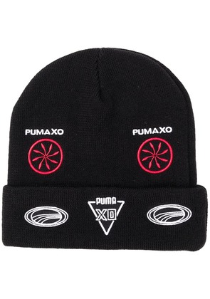Puma folded beanie with patches - Black