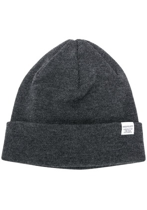 Norse Projects logo beanie - Grey