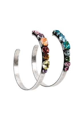 Dannijo rainbow hoop earrings - Metallic