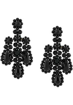 Simone Rocha statement drop earrings - Black